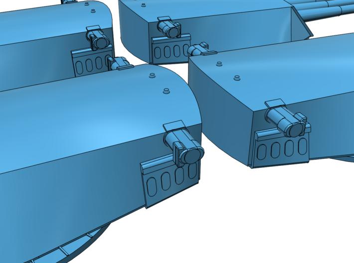 1/700 USS Arizona Turrets (integrated barrels) 3d printed