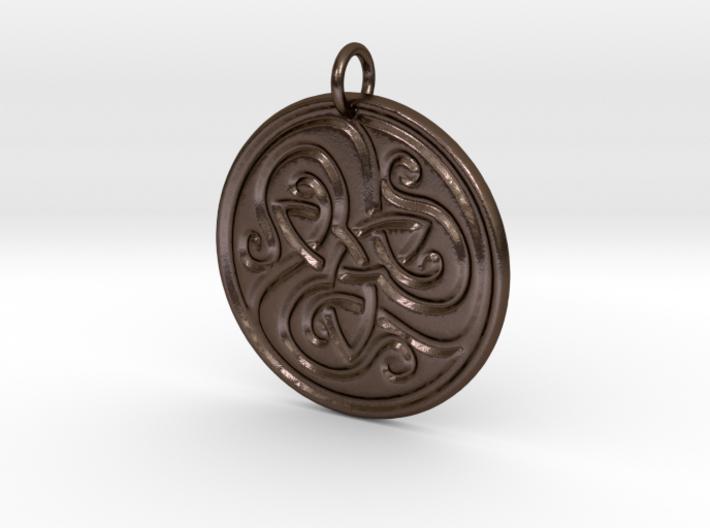 Celtic Trinity Knotwork Pendant 3d printed