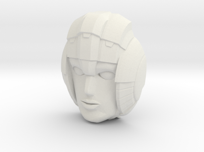 Arcee, G1 Face (Titans Return) 3d printed