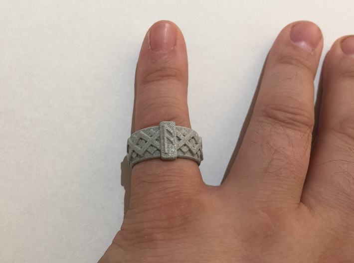 Norse Ansuz Ring 3d printed