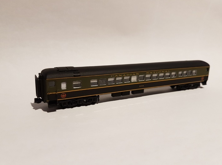 CNR PB-74-F Balloon Top Coach N Scale Assembly 3d printed