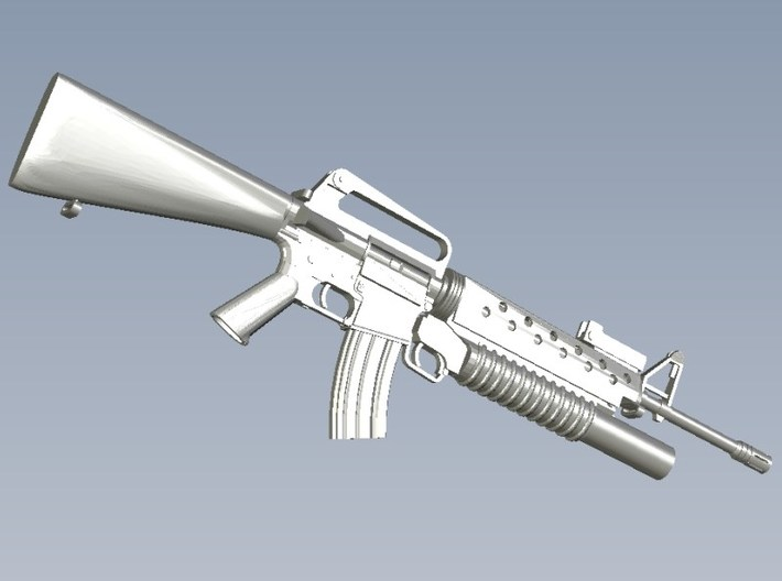 1/24 scale Colt M-16A1 & M-203 rifle x 1 3d printed