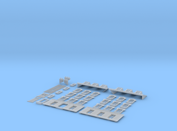 NVIM52 - City buildings 3d printed