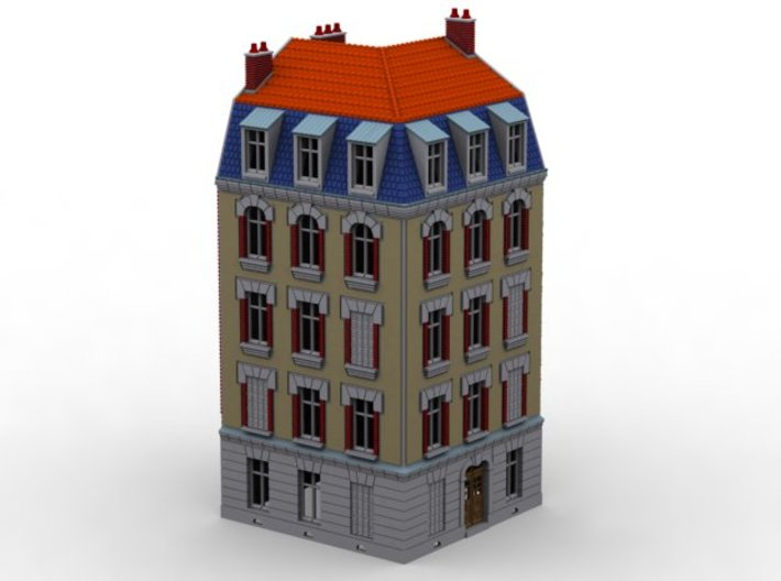 NVIM51 - City buildings 3d printed