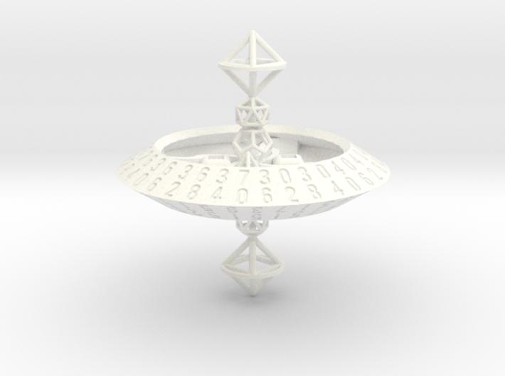 d70 trapezohedron die 3d printed
