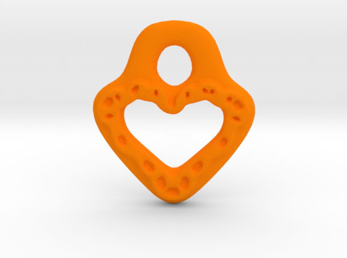 Lacey Heart Pendant Charm 3d printed