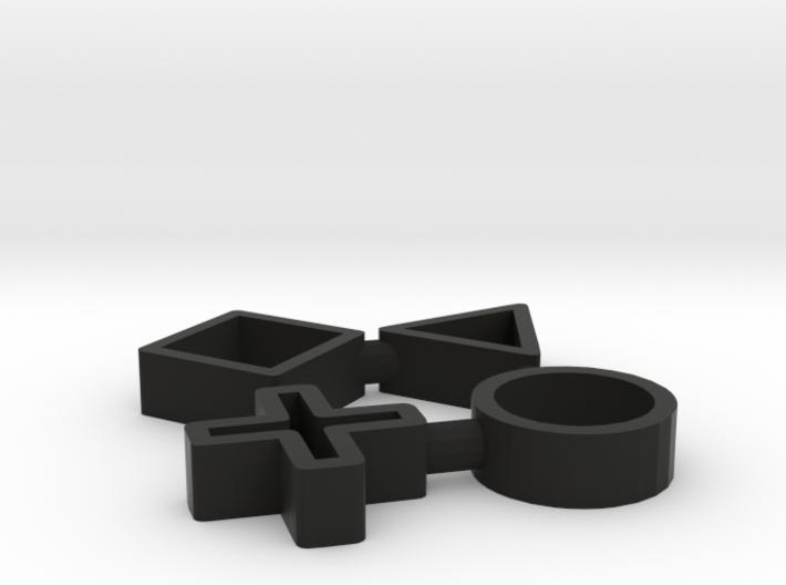 Playstation Keychain 3d printed