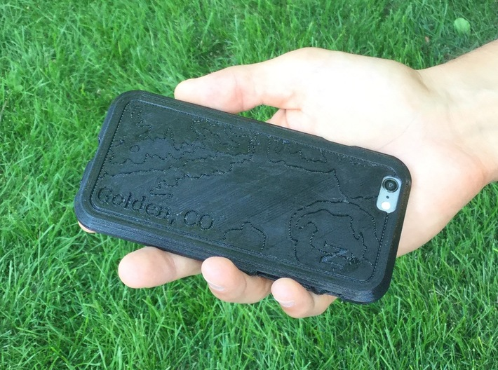 Topographic iPhone Case - Golden, CO 3d printed