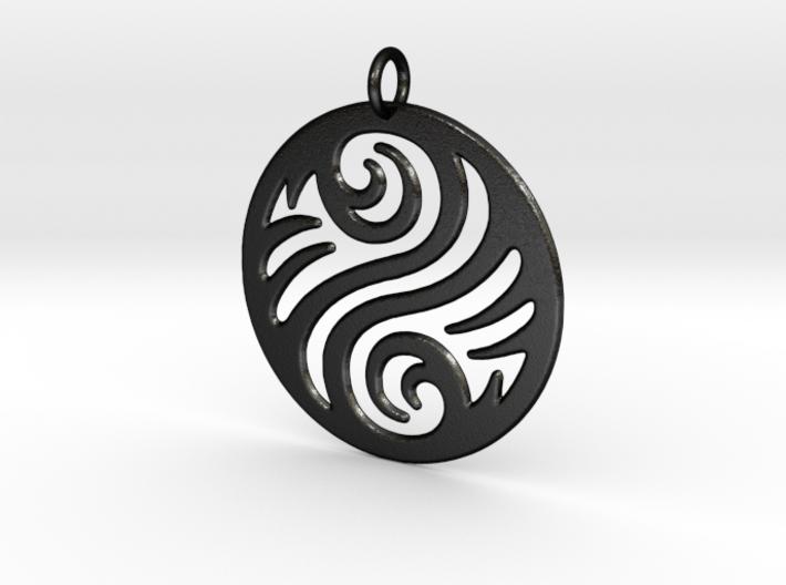 Waves Pendant 3d printed