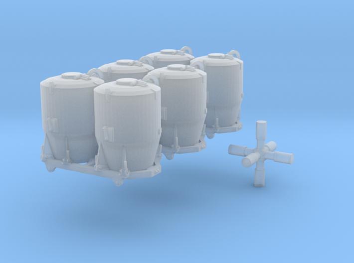 SET 3x Dzkr 501 Behälter (FLM/MTX) (N 1:160) 3d printed