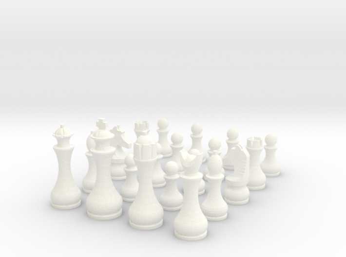 Pomo Capablanca Chess Set 3d printed