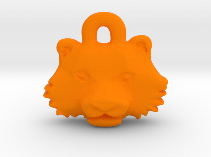 Tiger Face Pendant Charm 3d printed