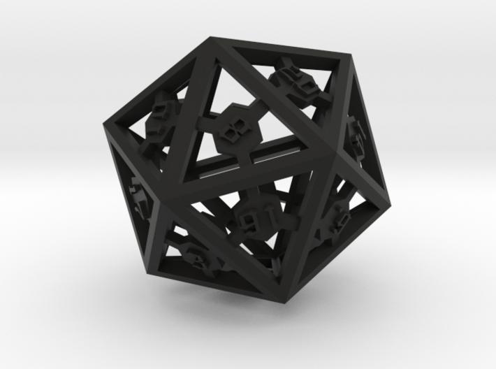 D20 Epoxy Dice 3d printed