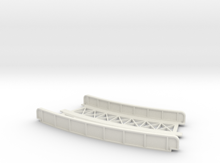 CURVED 195mm-220mm 30° DOUBLE TRACK VIADUCT 3d printed