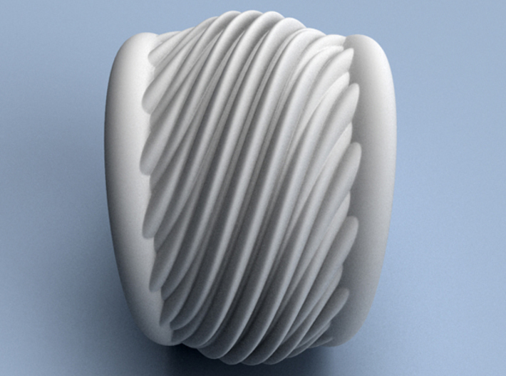 Makin' Waves - Size12 (21.49 mm) 3d printed