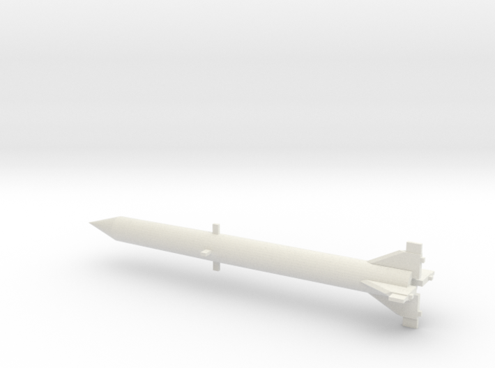 1/110 Scale Redstone Missile 3d printed