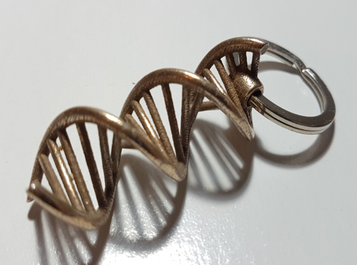 DNA Keychain 3d printed