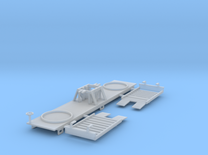 Borden Milk Car Z Scale 3d printed