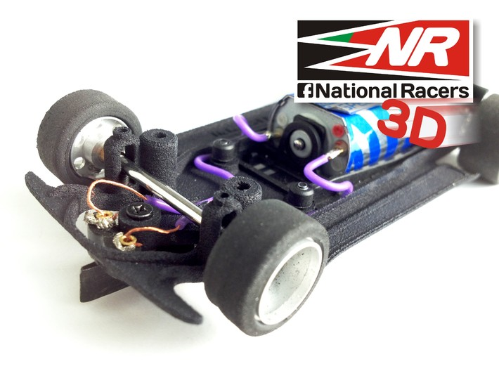 3D chassis for Fly Renault 5 Turbo (Inline) 3d printed
