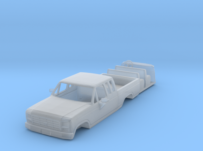 1/87 1980's Ford Super Cab Truck with Interior 3d printed