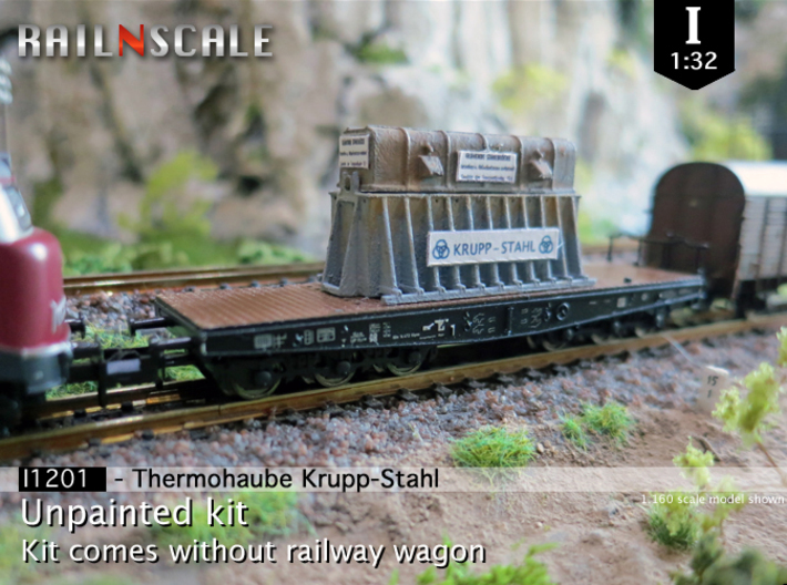 Thermohaube Krupp-Stahl (I 1:32) 3d printed