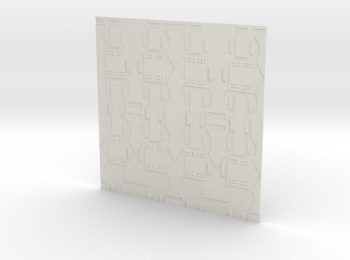 Spaceship Wall 3d printed