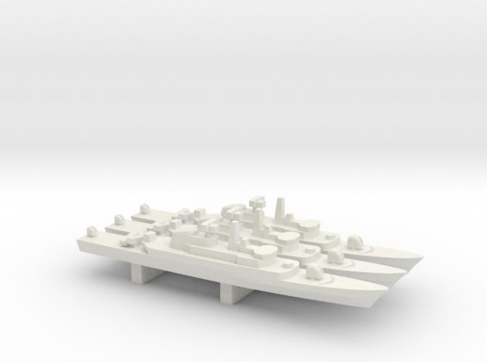 Alvand-class frigate (w/ C-802 AShM) x 3, 1/1800 3d printed