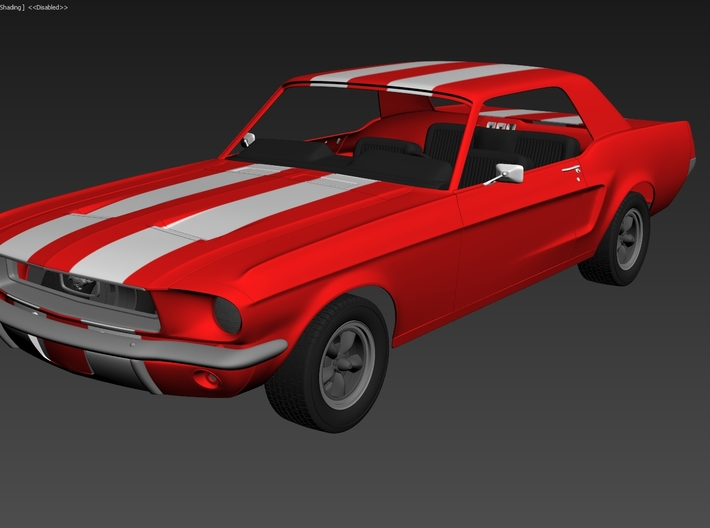 Ford Mustang GT '68 – kit 02 3d printed