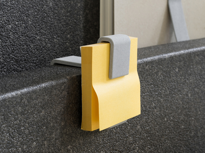 Sticky Note Dispenser 3d printed in use