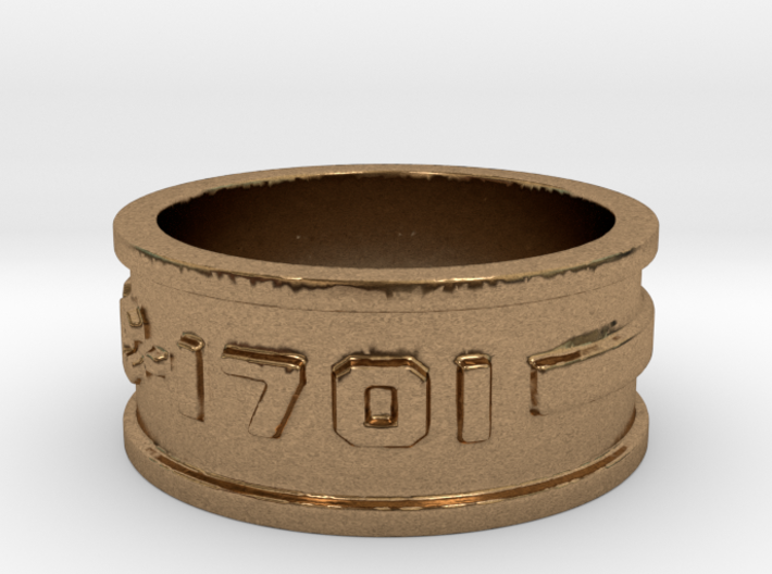 jewelry NCC-1701 ring 3d printed