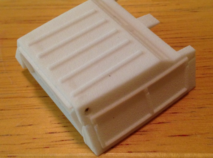 Trunk Fill Assembly - Shield Type 3d printed Assembly, unpainted
