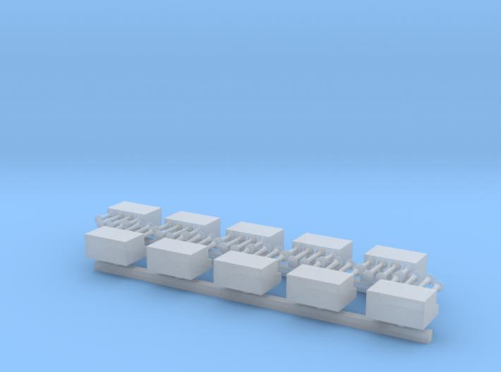 4x Presslufthörner mit Kompressorkasten - 1/87 10x 3d printed