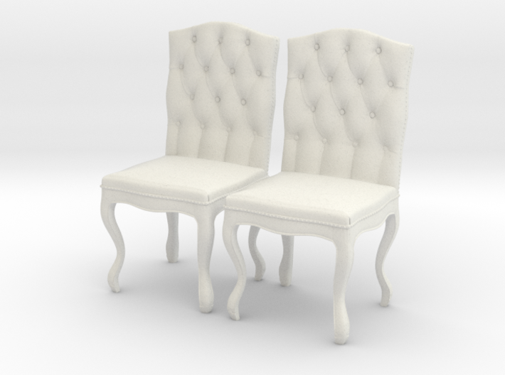 Tufted Dining Chair Set Of 2 3d printed