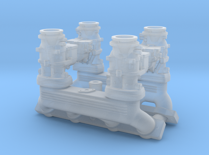 1/18 Ardun 2X4 Intake 3d printed