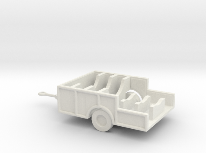 1/200 Scale M480 trailer, missile body aft section 3d printed