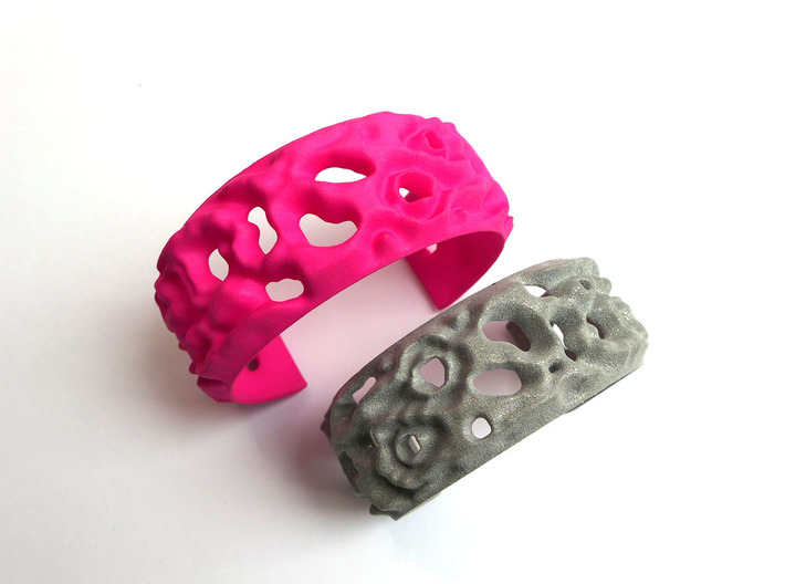 Osmosis Cuff - Science Jewelry 3d printed