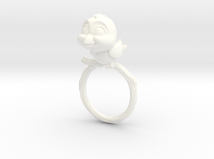 Bird Pet Ring - 18.89mm - US Size 9 3d printed