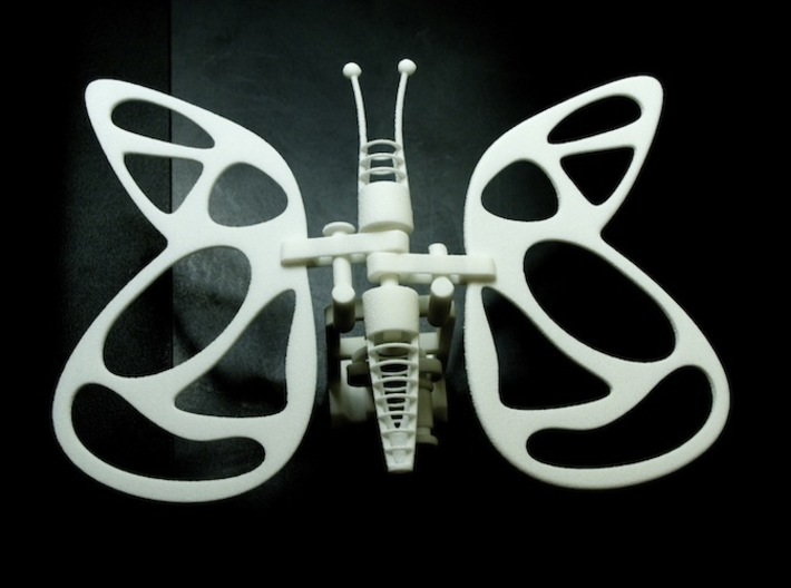 The Butterfly 3d printed THE FINISHED BUTTERFLY...