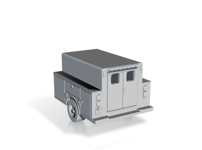 Pickup Truck Work Bed 1-87 HO Scale 3d printed