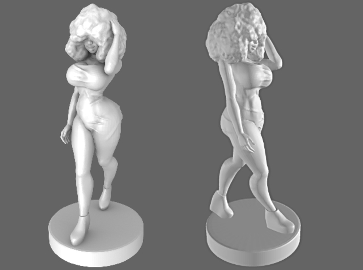 Walking Girl 3d printed
