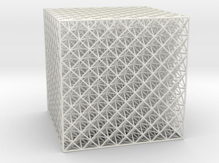 Octet Truss Cube (7x7x7) 3d printed
