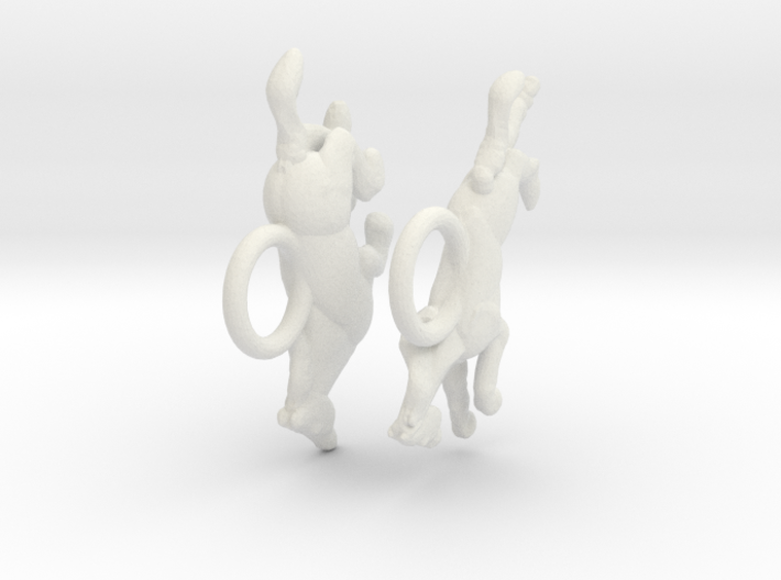 Running Horse Earrings 3d printed