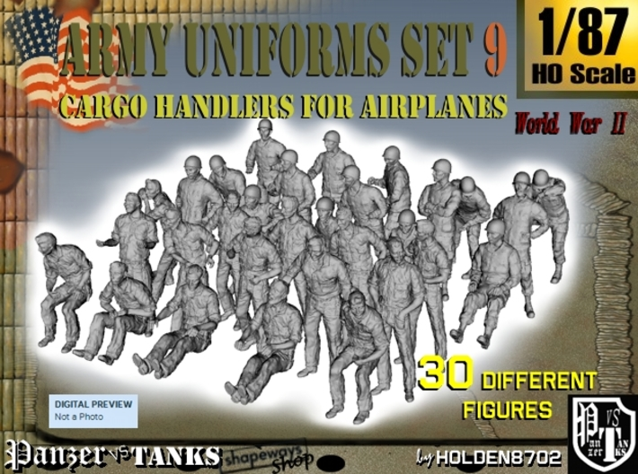 1-87 Army Modern Uniforms Set9 3d printed