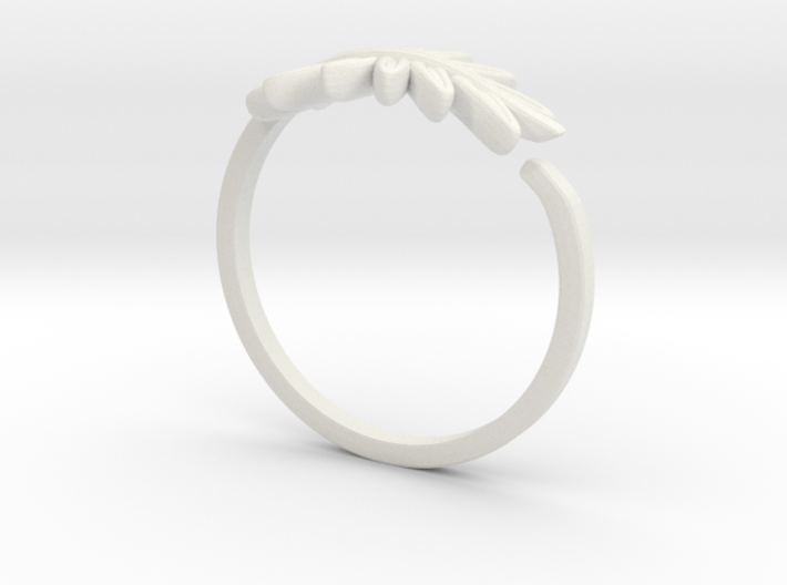 Friendship Leaf Rings 3d printed
