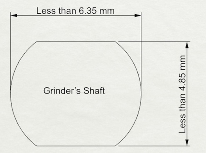 Coffee Grinder Bit for Drill Driver CDR-RE 3d printed Available size of rounded rectangle shafts of coffee grinders