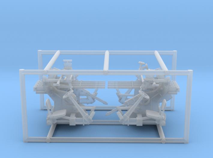 2 X 1/72 IJN Type 93 13.2mm Quad Mount 3d printed