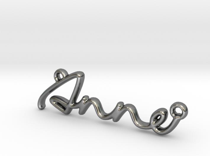 ANNE Script First Name Pendant 3d printed