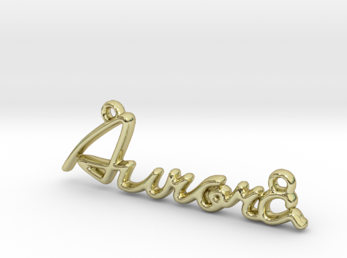 AURORA Script First Name Pendant 3d printed