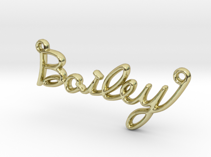 BAILEY Script First Name Pendant 3d printed