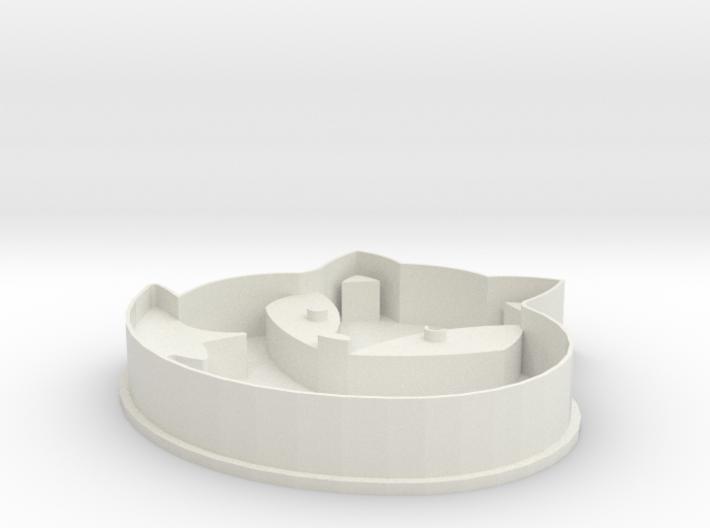 Fox cookie cutter 3d printed